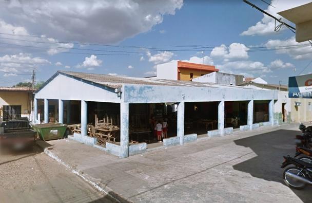 Antigo galpão do mercado público em Abaiara | Foto: Google maps