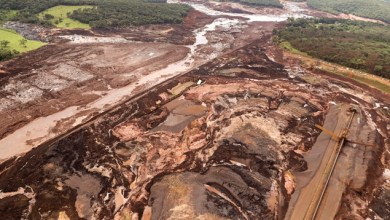 Vista aérea da região afetada pelo rompimento da barragem da mina Córrego do Feijão, em Brumadinho (MG) (Andre Penner/)
