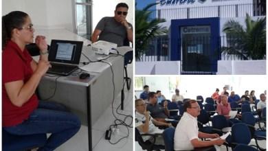 Imagens do evento e da fachada do Cetrema - Centro de Treinamento da Ematcrece | Imagens: Divulgação (Ematerce) e OKariri (da fachada).
