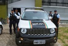 Policiais destacando no município de Milagres (CE) | Foto: OKariri.com