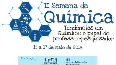 Photo of Brejo Santo (CE): UFCA realizará a II Semana da Química de 15 a 17 de maio