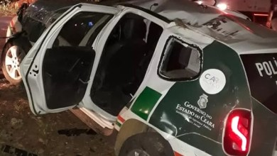 Photo of Brejo Santo-CE: Carro do policiamento ambiental capota e deixa três agentes feridos