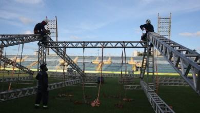 Foto de Ceará: Estádio é transformado em hospital para pacientes com coronavírus em Fortaleza