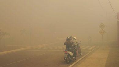 Foto de Incêndio atinge área do Aeroporto de Juazeiro e prejudica visibilidade de motoristas