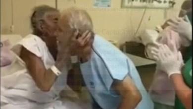 Foto de Covid-19: Idosos casados há 70 anos se reencontram em hospital após internação separados; veja vídeo