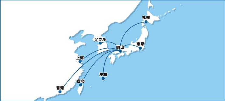 時刻表 岡山桃太郎空港
