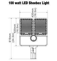 240 watt led residential shoebox garage lights 31200lm [ 1000 x 1000 Pixel ]