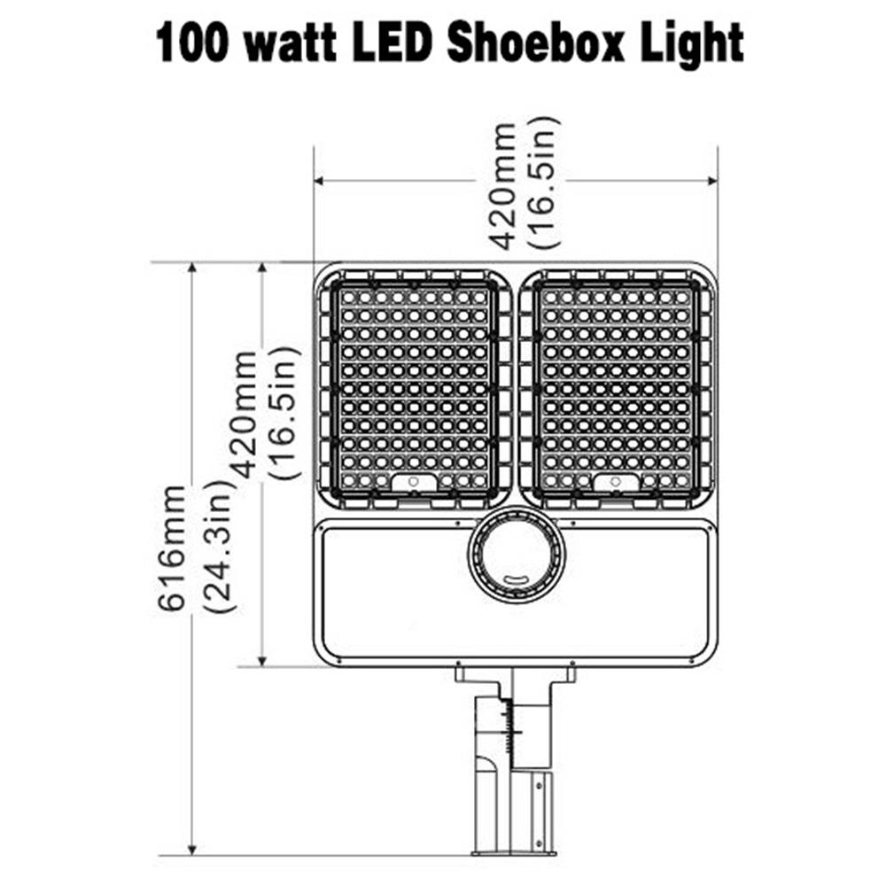 320 Watt Outdoor LED Motion Sensor Shoebox Light 5000K