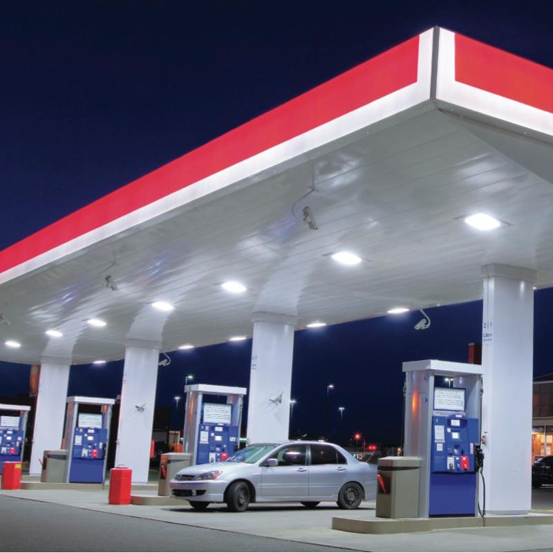 150 Watt LED Gas station Canopy Light  OkayBulb