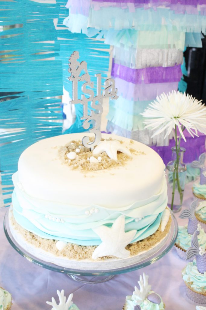 3rd Mermaid Birthday Cake