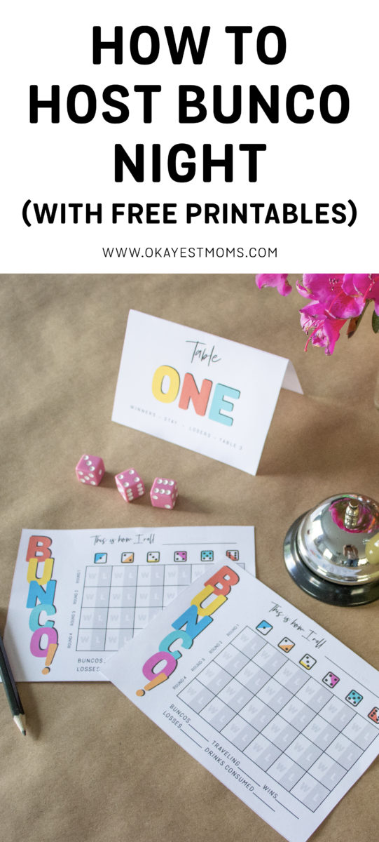 photo regarding Cute Bunco Score Sheets Printable named How in the direction of Host a Bunco Night time - Okayest Mothers