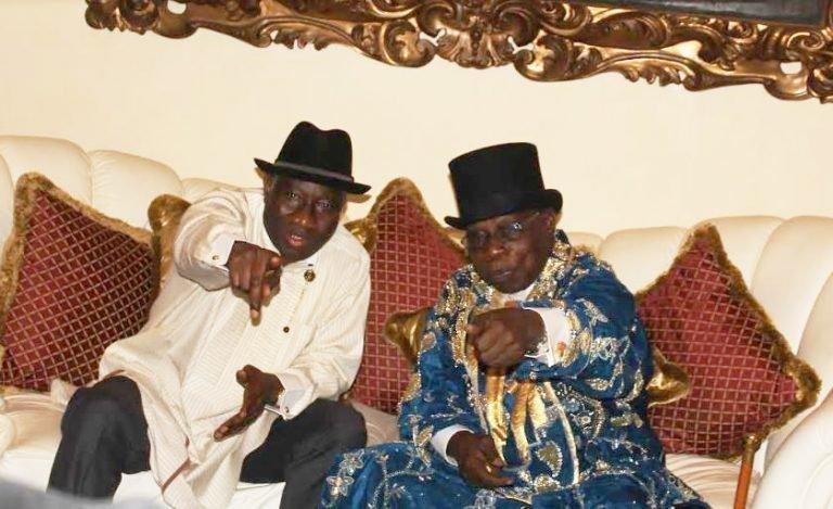 Nigeria News: Jonathan Hosts Obasanjo in Otuoke