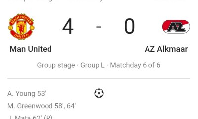 Mason Greenwood hits a stunning brace as Manchester United beat AZ Alkmaar 4-0