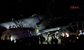 Video: Plane broke into pieces after skidding off runway.