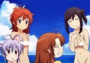 【のんのんびより】アニメ第5話の水着回を裸コラでヌーディストビーチにしたったwww