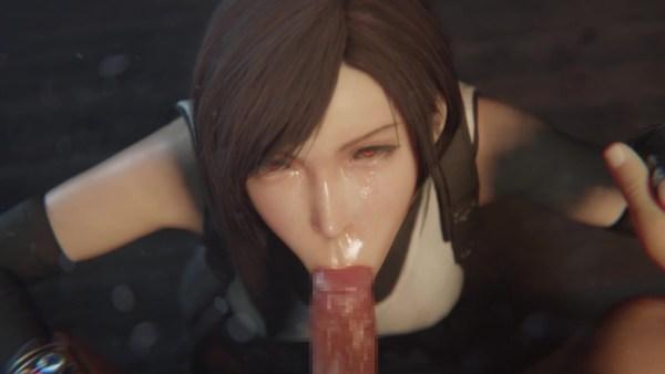 [ファイナルファンタジーVII リメイク] ティファの顔に大量射精 3DCG 07