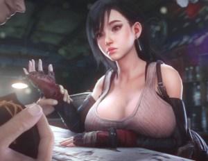 【FF7R】スラム街のバーで働くティファさん、お金に困って客に身体を売ってしまう・・・。