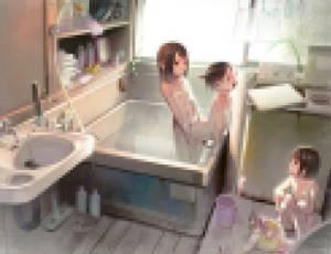 【画像】女子小〇生3人組、お風呂場でせっ〇すごっこをしてしまうwwwww