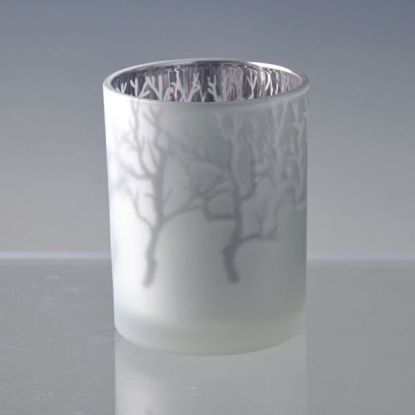 Frosted Glass Candle Holder Lid