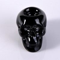 black skull ceramic tealight candle holder,tealight candle