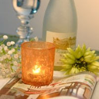 Frosted Glass Votive Candle Holders, glass candle holder ...