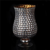 Mosaic glass candle holder votive glass tealight holder