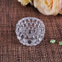 Small cute crystal clear glass votive candle holder wholesale