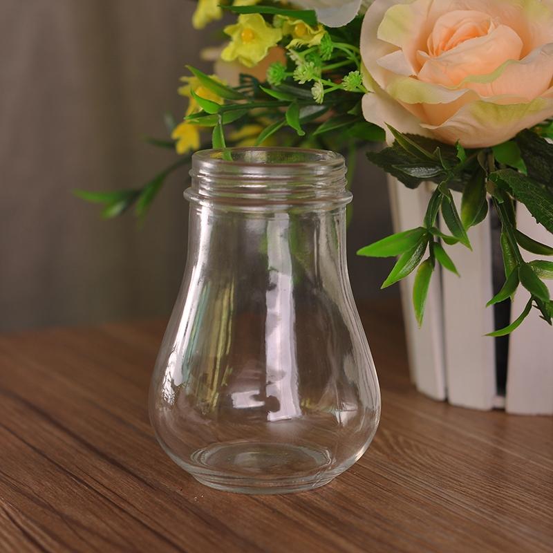 home decor bulb shape glass candle jar on okcandlecom