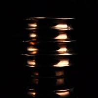 gold lustre glaze ceramic candle holderon okcandle.com