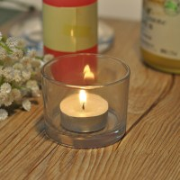 small clear glass candle holder, glass candle holder ...