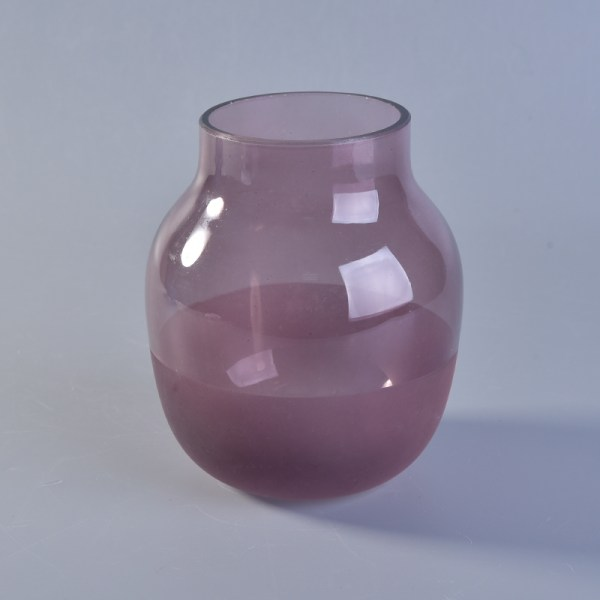 Smooth Frosted Glass Candle Holders Diffuse Bottle