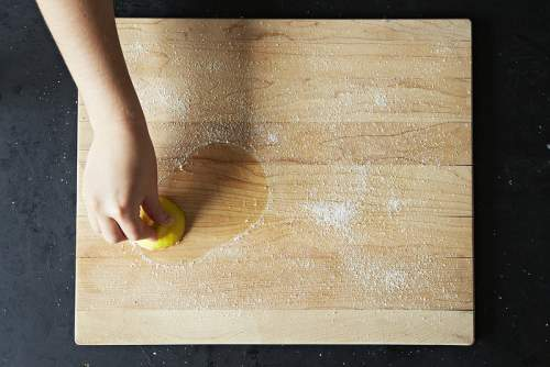 Tabla de picar bicarbonato limon