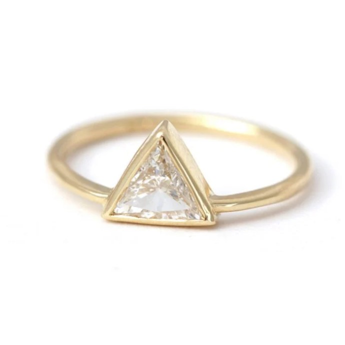 anillo minimalista triángulo