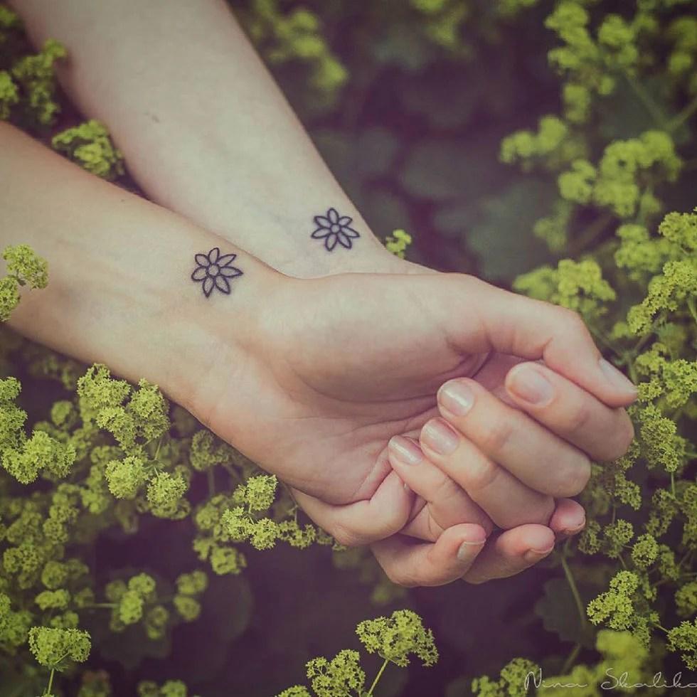 25 Diseños De Tatuajes Pequeños Para Mejores Amigas