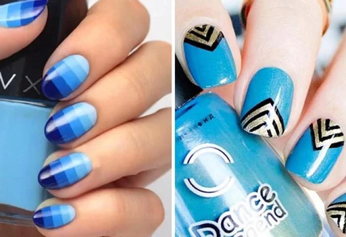 Diseños Para Decorar Tus Uñas Con Tonalidades De Color Azul
