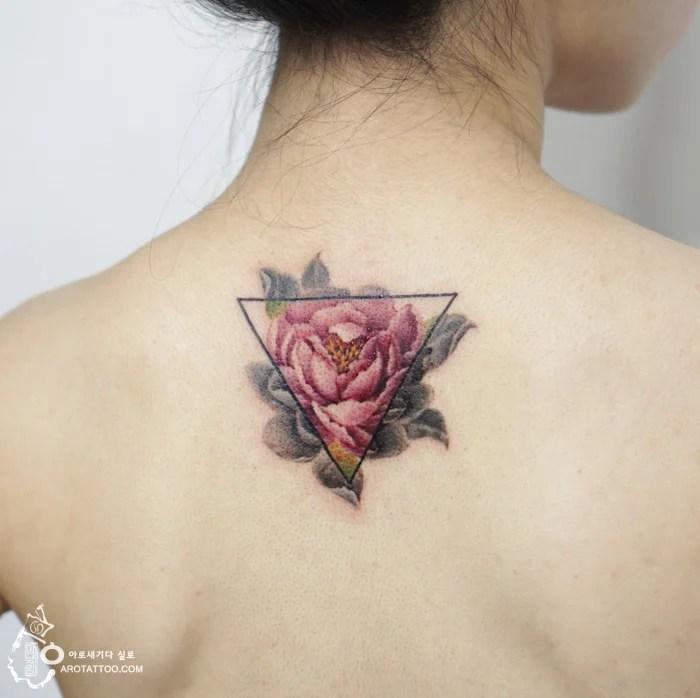 Mujer Tatuajes Acuarela Flores
