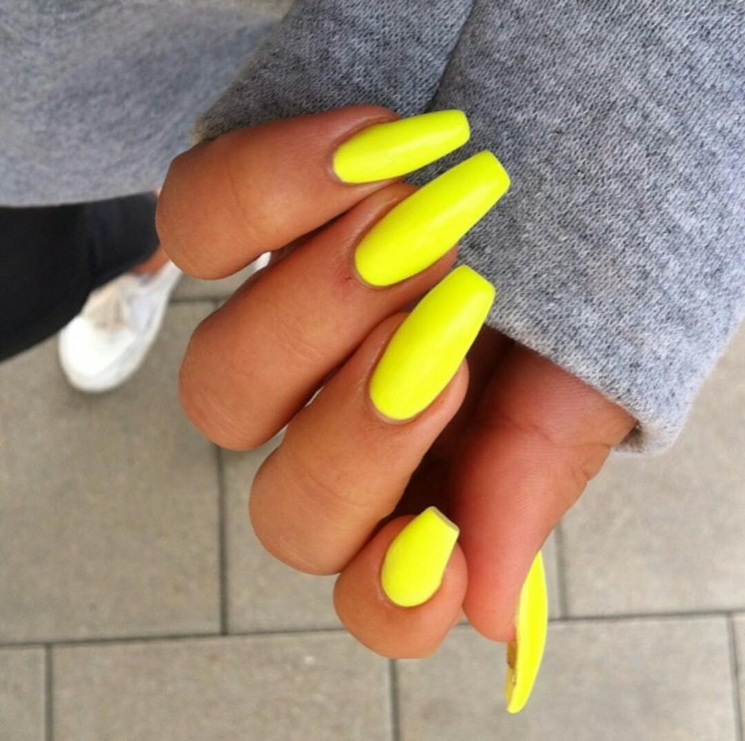 Imagenes De Uñas Acrilicas Color Amarillas Decorados De Uñas