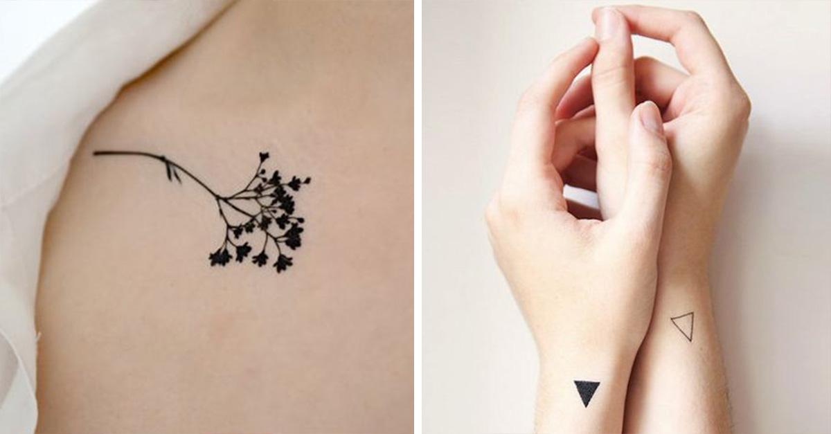 15 Tatuajes Minimalistas Que Querrás Tener Ahora Mismo