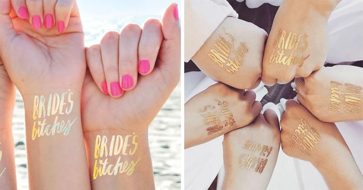 10 Tatuajes Temporales Para Las Damas De Honor En Tu Boda