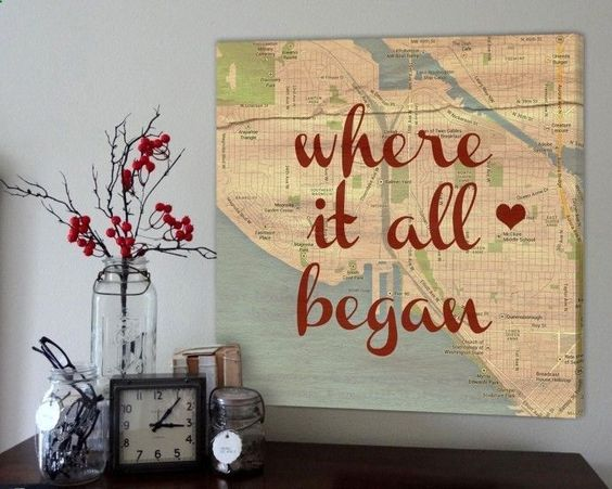 Cuadro con un mapa