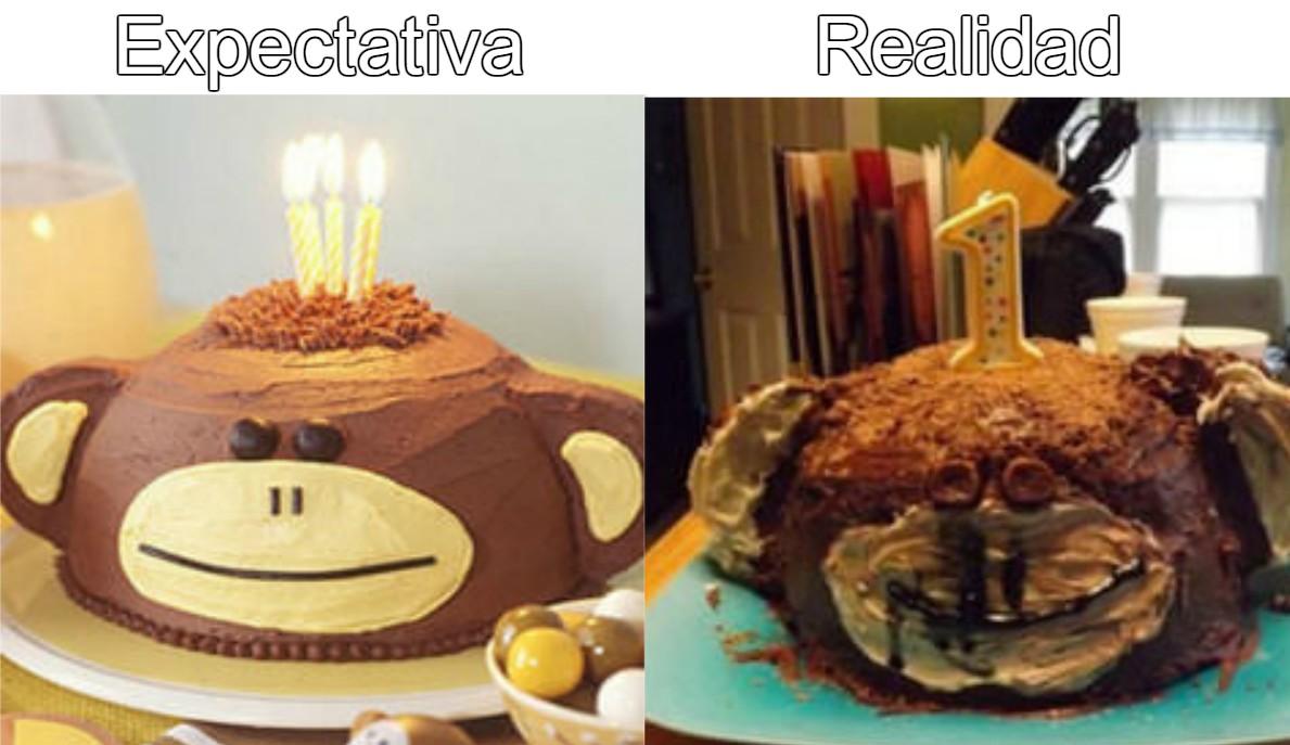 Bilderesultat for expectativa vs realidad pasteles