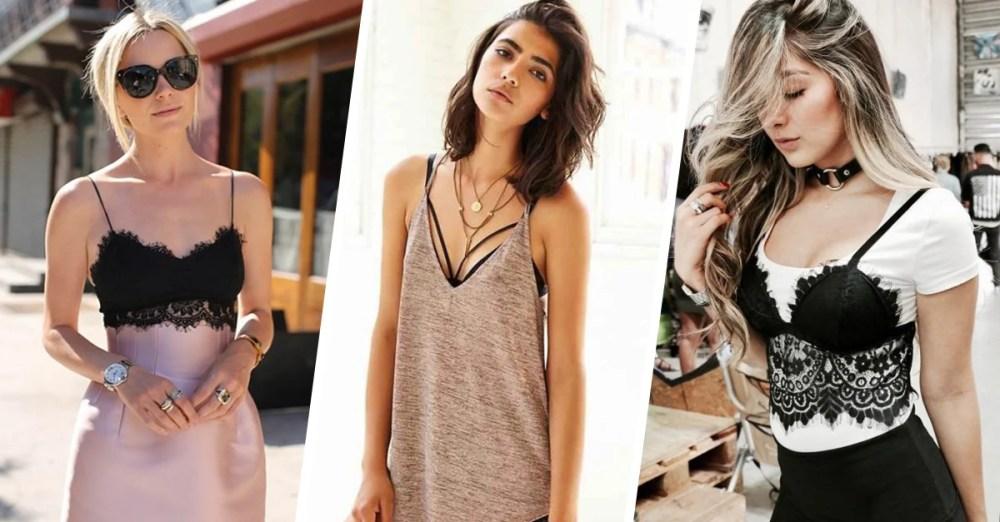 15 Outfits con bralettes para las chicas que no son tan atrevidas