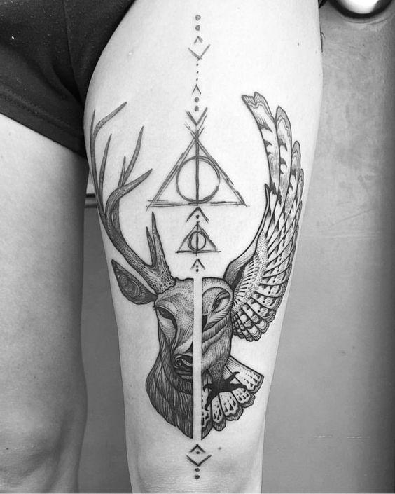 20 Lindos Tatuajes Inspirados En La Saga De Harry Potter