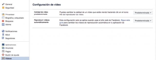 configurar videos