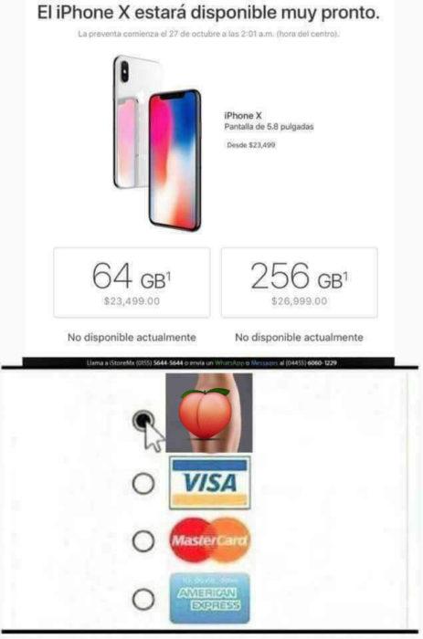 reacciones iphone x
