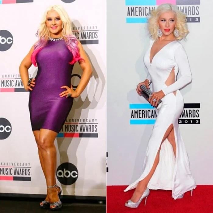 Christina aguilera antes y después de perder peso