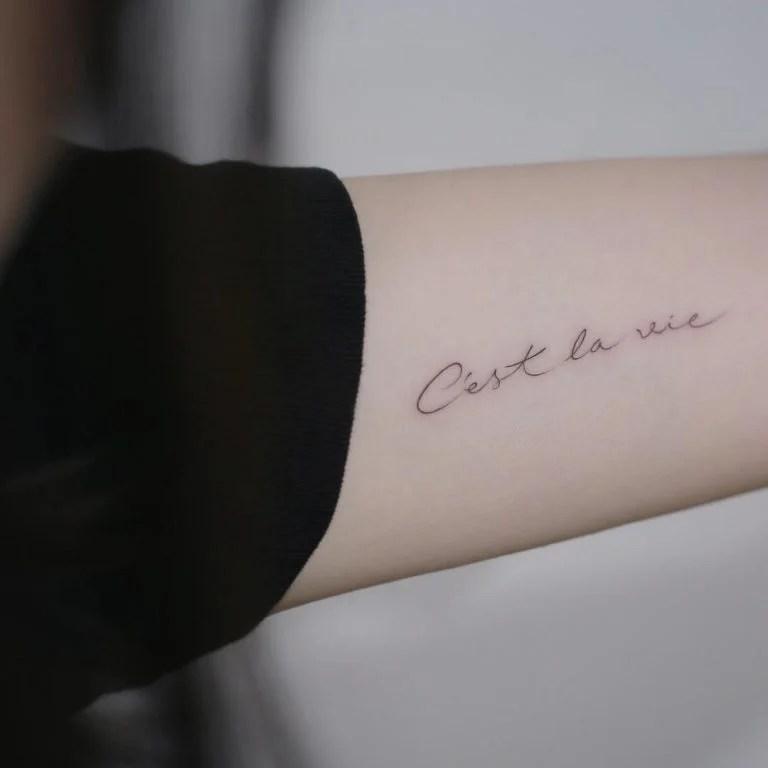14 Discretos Tatuajes Para Mujer Con Frases En Francés