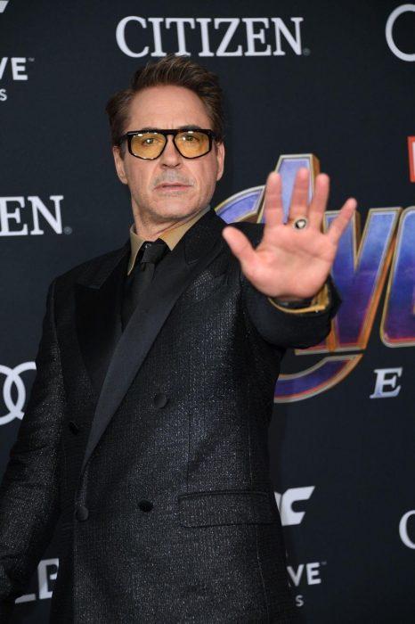 Robert Downey Jr. que interpreta a Iron man en la premiere de la película de Avengers: Endgame en Los Angeles