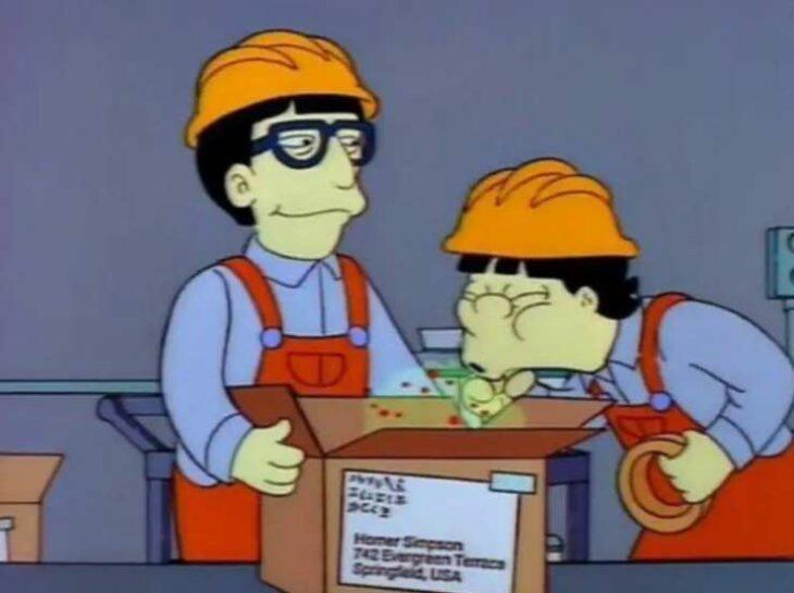 Los Simpson con Juice Looseners infectados