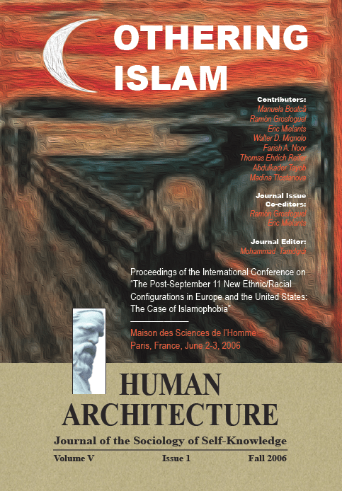 Othering Islam [Human Architecture: Journal of the Sociology of Self-Knowledge, V, 1, 2006]